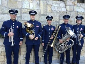 The U.S. Air Force Band of the West's Freedom Brass will perform at 6 p.m. Friday, Sept. 9, in Cole Concert Hall on the SFA campus.