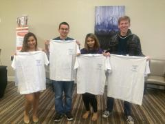 Participants of the Quiz Bowl team included, from left, Vianca Vazquez, Ervin Mooney, Dallas Gengler and Samantha Wilkinson.