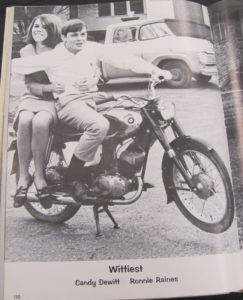 Photo of Ron Raines from the 1968 Nacogdoches High School yearbook.