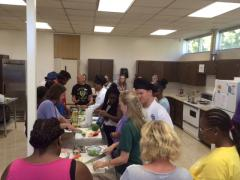 More than 40 Stephen F. Austin State University students taught community members essential nutrition education and cooking tips during the Cooking Matters program.