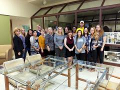 Stephen F. Austin State University interior design students recently collaborated with staff members at the Nacogdoches Treatment Center to create site and floor plans for a proposed assisted living facility for patients with Alzheimer's disease.