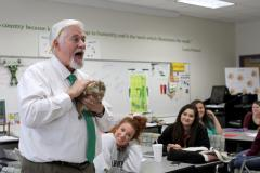 Dr. Alan Sowards, elementary education science professor, uses animals like Amir, a prairie dog, to bring science to life at Stephen F. Austin State University. In Sowards' science methods course, early childhood through sixth grade education majors learn how to incorporate animals into their lesson plans to help teach science.