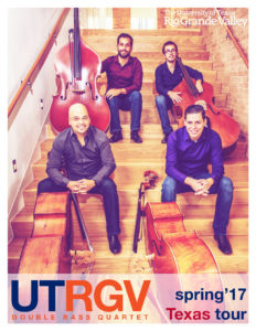 University of Texas Rio Grande Valley's Double Bass Quartet will perform at 1 p.m. Saturday, April 29, in the Music Recital Hall on the campus of Stephen F. Austin State University. Admission is free.