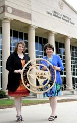 Dr. Lori Harkness, left, director of Stephen F. Austin State University's Early Childhood Lab and campus coordinator for the SFA Charter School, and her mother, Kathleen McGough, a faculty member in SFA's Department of Languages, Cultures and Communication, recently established the Lori McGough Harkness Early Childhood Lab Scholarship at SFA to assist families who have more than one child enrolled in the ECHL.
