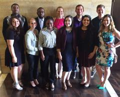 Stephen F. Austin State University students attended the recent Texas Intercollegiate Press Association's annual convention and competition in Dallas. Pictured, from left, are (back row) Devin Brooks, Juwan Lee, Cynthia Cogan, Bastian York, Ronnie Chapman, (front row) Delilah Gonzalez, Tyler Fisher, Brielle Thomas, Joanna Armstrong, Parastoo Nikravesh and Cara Campbell.