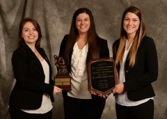 Stephen F. Austin State University Rusche College of Business Master of Professional Accountancy students from left, Jennifer Nicely, Lauren Rose and Robyn Davis, placed first in the Society for Advancement of Management Graduate CASE Competition in Orlando, Florida.