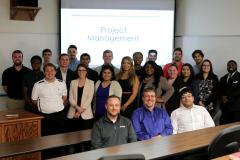 Throughout the semester, Stephen F. Austin State University students enrolled in a project management course in the Rusche College of Business engaged in a collaborative project with industry professionals who served as mentors and provided guest lectures.