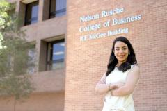 Stephen F. Austin State University Rusche College of Business alumna Ana Romero recently began working at Amazon as a brand specialist for the lawn and garden category. Romero, a 2016 international business graduate, said she owes her professional career to SFA's Rusche College of Business.
