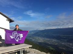 Stephen F. Austin State University Rusche College of Business student Lawrence Moore studied abroad in Austria during the fall 2016 semester. Moore is one of many SFA business students who has taken advantage of the college's partnership with two business schools in France and Austria.