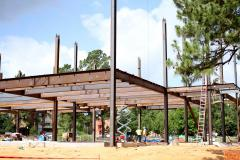 Structural steel beams are being placed this month as construction continues on the Ed and Gwen Cole STEM Building on the SFA campus. Officials said all projects are on schedule, and the building should be completed by fall 2018.