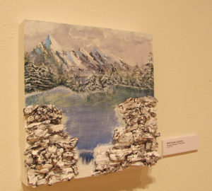 "Charles Longbine's Woodworking Series #1 ""First Snow"" is among the works featured in this year's 12x12 scholarship fundraiser hosted by the SFA Friends of the Visual Arts at Cole Art Center."