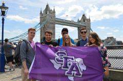 While abroad, Stephen F. Austin State University students visited historic sites such as the London Bridge, Buckingham Palace, Tower of London and more.