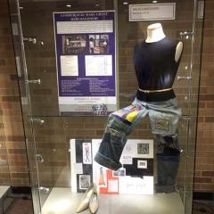 Stephen F. Austin State University's fashion merchandising and interior merchandising programs in the School of Human Sciences are merging to form a new merchandising program, effective fall 2017. Through their coursework, merchandising students will have the opportunity to design display cases such as the one pictured.