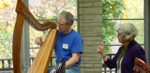 Harpist Emily Mitchell, shown here teaching at the Southeastern Harp Weekend in Asheville, North Carolina, will teach harp lessons this fall for the SFA Music Preparatory Division.