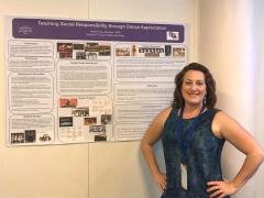 """Haley Jameson, co-coordinator of Stephen F. Austin State University's dance program, presented her poster titled """"Teaching Social Responsibility Through Dance Appreciation"""" at the Twelfth International Conference on the Arts in Society in Paris, France."""