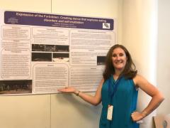"""Heather Samuelson, co-coordinator of Stephen F. Austin State University's dance program, presented her poster titled """"Expression of the Forbidden: Creating dance that explores eating disorders and self-mutilation"""" at the Twelfth International Conference on the Arts in Society in Paris, France."""