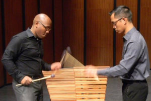 The Omojo Percussion Duo featuring Oliver Molina and Joe W. Moore III will perform a guest recital at 7:30 p.m. Thursday, Oct. 5, in Cole Concert Hall on the SFA campus.