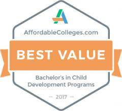Stephen F. Austin State University's Bachelor of Science in human sciences with an emphasis in human development and family studies has been ranked as one of the top 20 most affordable online child development degree programs in the nation by affordablecolleges.com.