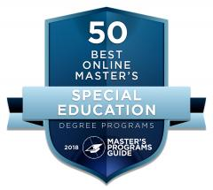 Master's Programs Guide, a website dedicated to helping students find the best graduate degree, recently ranked Stephen F. Austin State University among the 50 best schools in the nation for its online master's degree in special education.