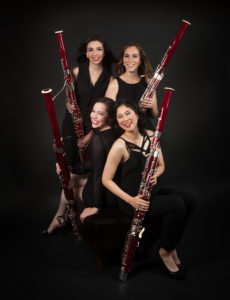 The Breaking Winds Bassoon Quartet, featuring bassoonists Brittany Harrington-Smith, Yuki Katayama, Kara LaMoure and Lauren Yu Ziemba, will perform at 7:30 p.m. Wednesday, Oct. 18, in Cole Concert Hall on the SFA campus.