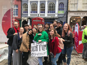 SFA theatre students performed an improvised silent movie on one of the street stages in Edinburgh, Scotland, during the Festival Fringe this past August.