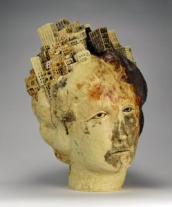 """This fired stoneware clay glaze work, """"Athena"""" by Clara Hoag, is among the ceramic artwork in """"Collective Transference: Houston Area Clay"""" to be exhibited Oct. 31 through Dec. 30 in The Cole Art Center @ The Old Opera House."""