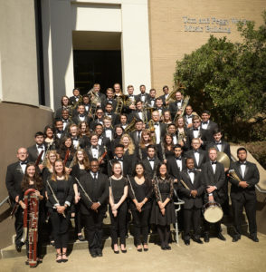 SFA's Wind Ensemble will present a program of music from across America at 2:30 p.m. Sunday, Dec. 3, in W.M. Turner Auditorium on the SFA campus.