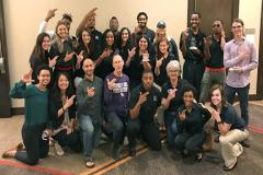Stephen F. Austin State University students received top honors at the American Advertising Federation-Houston Student Conference held Nov. 3 and 4. Students from SFA's School of Art, Department of Management and Marketing, and Department of Mass Communication competed during the conference.