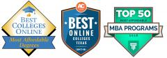 Stephen F. Austin State University has received rankings on the national and state levels for its online education and affordable programs. Best Colleges Online ranked SFA fourth for the most affordable online master's degree in educational leadership, and Affordable Colleges Online ranked SFA as the 14th best online college. Top Management Degrees ranked SFA's Master of Business Administration program among the most-affordable programs in the nation.