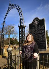 Heaven Umbrell, a Stephen F. Austin State University history graduate student, is working alongside members of the Friends of Historic Nacogdoches to create an index and map of Oak Grove Cemetery.